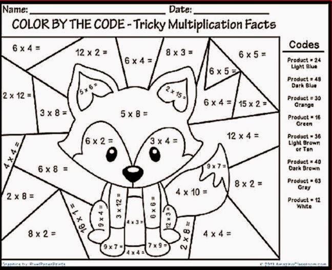 Math Worksheets Coloring