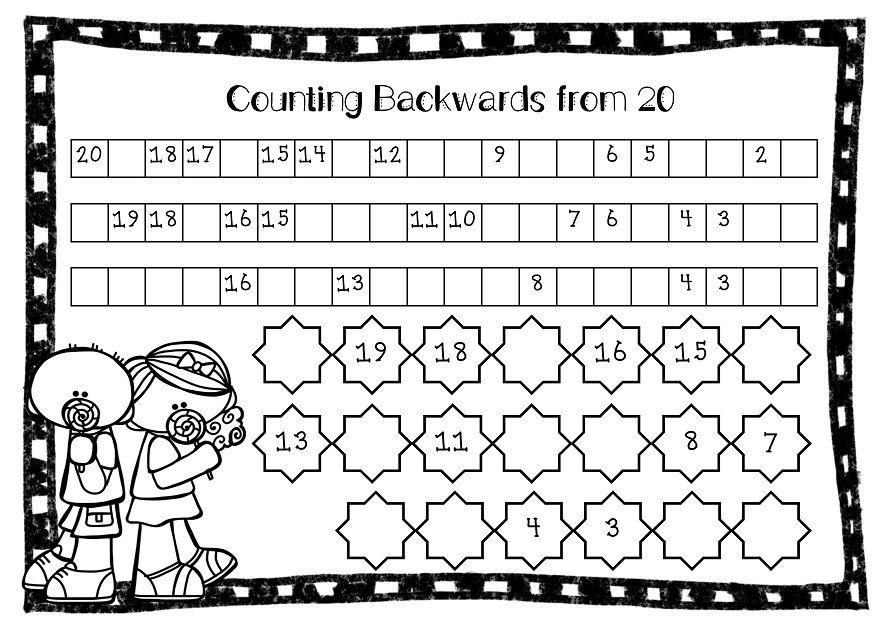 Math Worksheets Counting Backwards From 20 346587