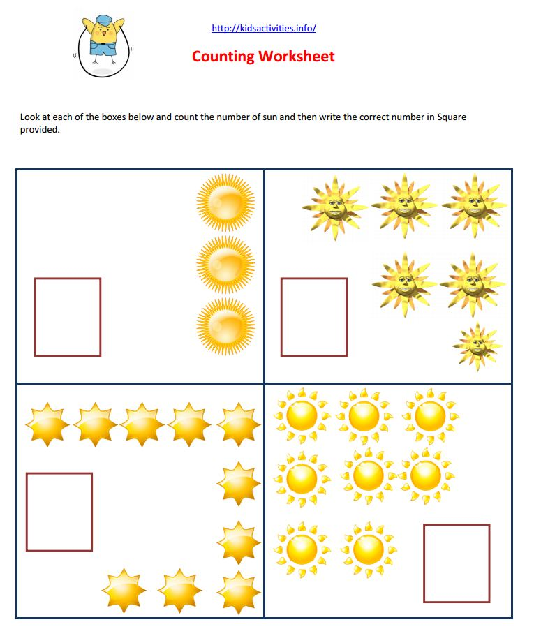 Math Worksheets For Nursery Pdf  582281