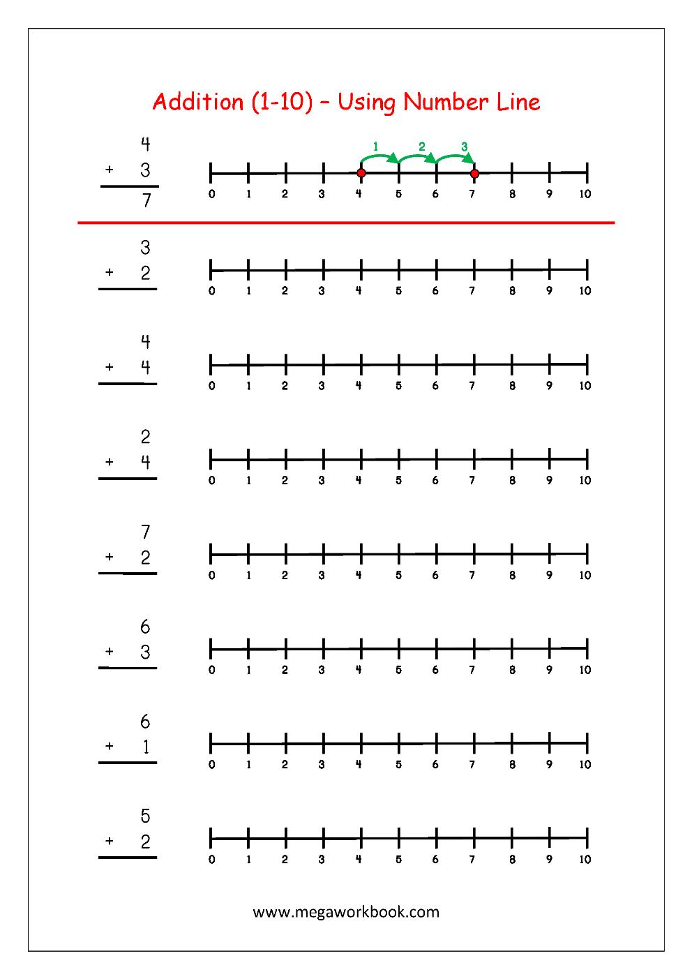 Math Worksheets Grade 1 Number Line 996926