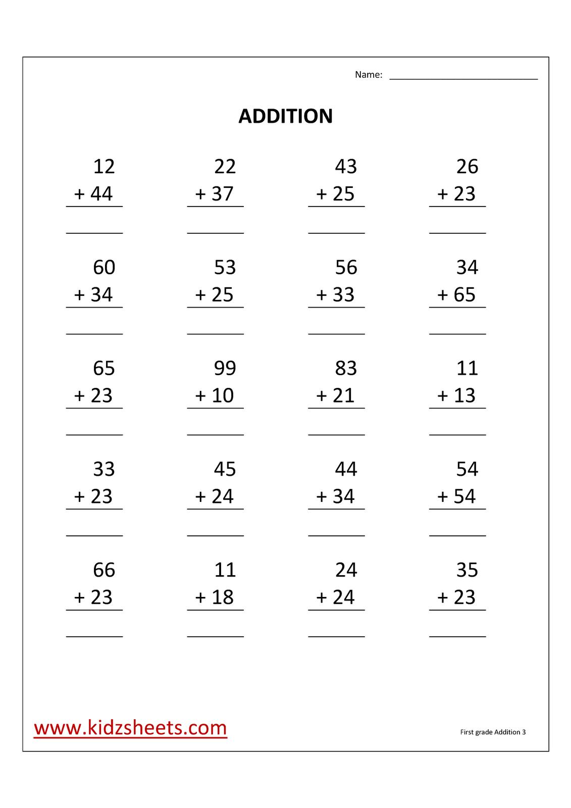 Math Worksheets Grade 3 Addition 968909