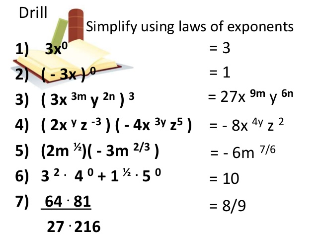 Math Worksheets Grade 9 Exponents