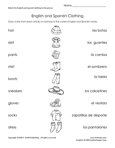 Math Worksheets In Spanish And English 1380555