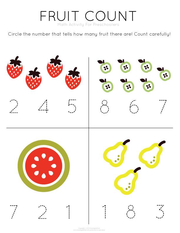 Math Worksheets Nursery  128492