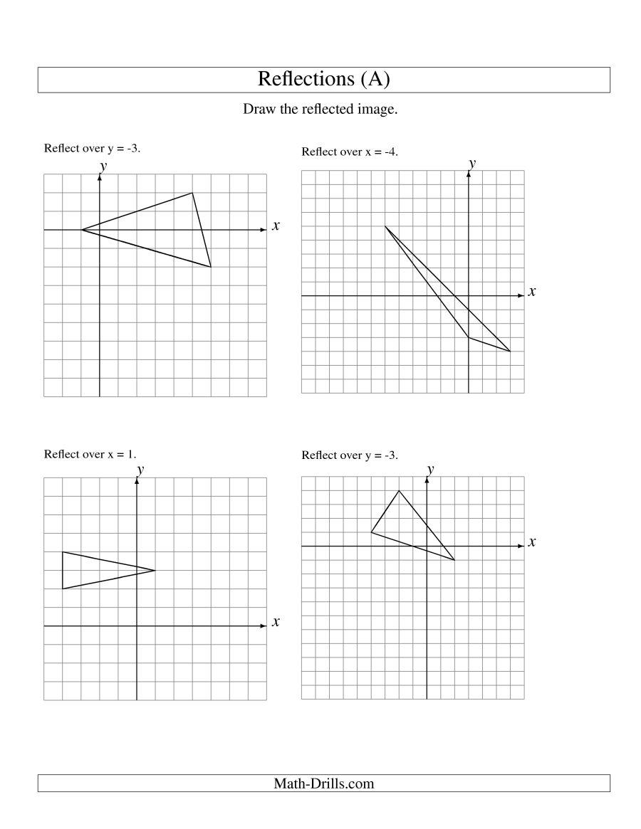 Math Worksheets Reflection 616566