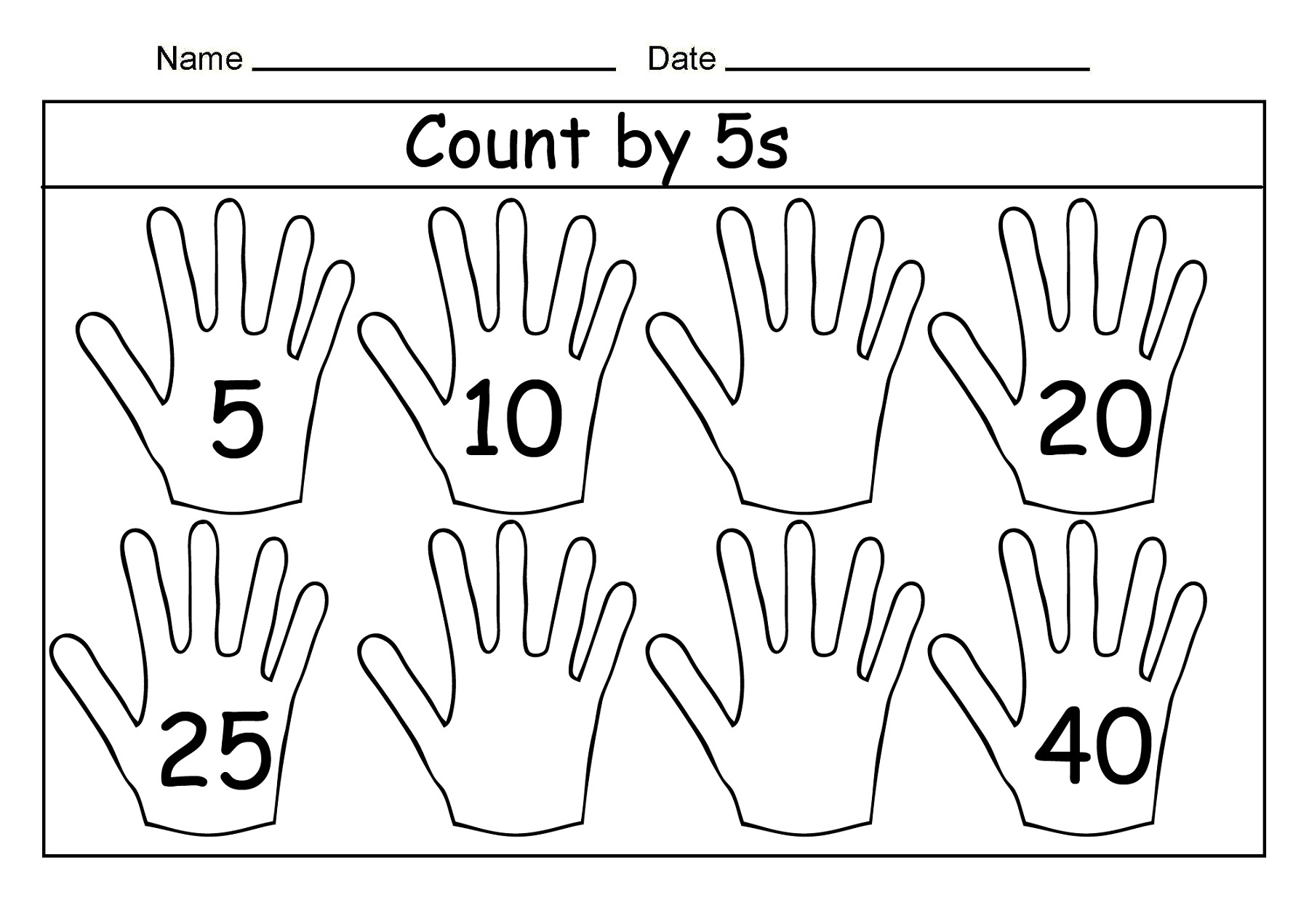 Math Worksheets Skip Counting By 5s 477684