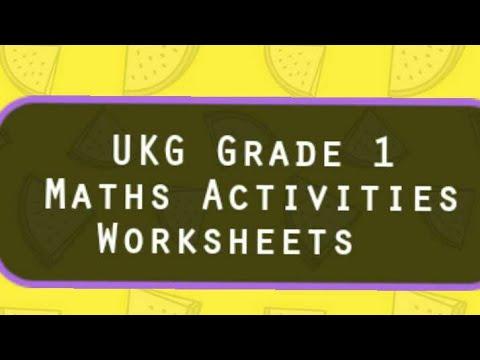 Maths Grade 1 Activities Worksheets Ukg Cbse Maths