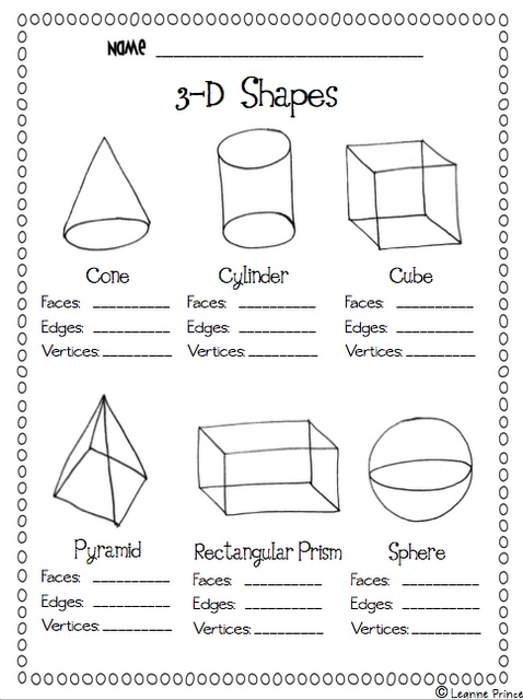 Maths Worksheets For Grade 2 Solid Shapes