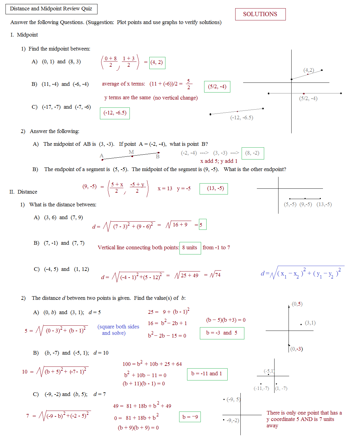 Midpoint Worksheets The Best Worksheets Image Collection