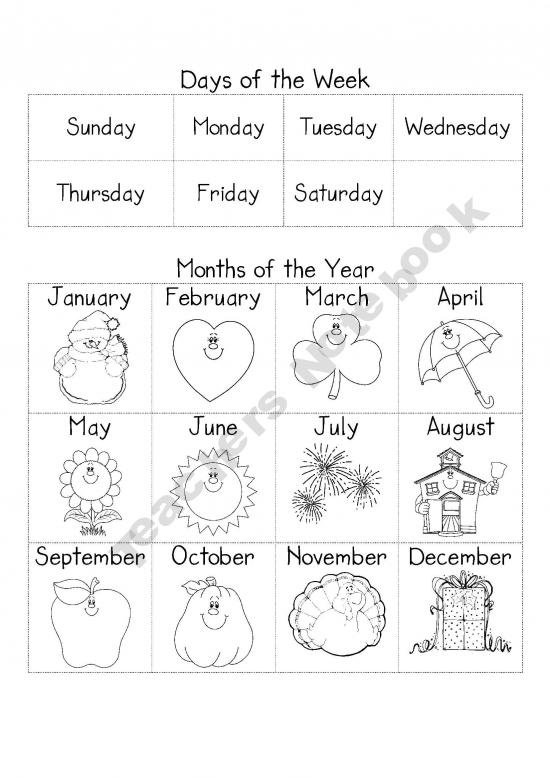 Months Of The Year Worksheets Pdf For Kindergarten  324979