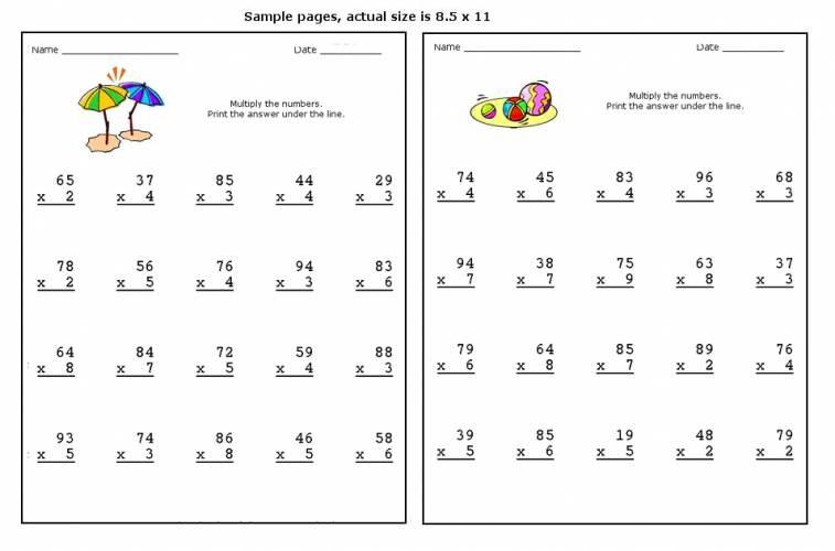 Multiplication 2 Digit By 2 Digit Worksheets Free 219505
