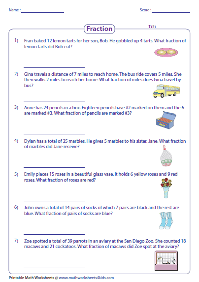 Multiplication And Division Of Fractions Word Problems Worksheets