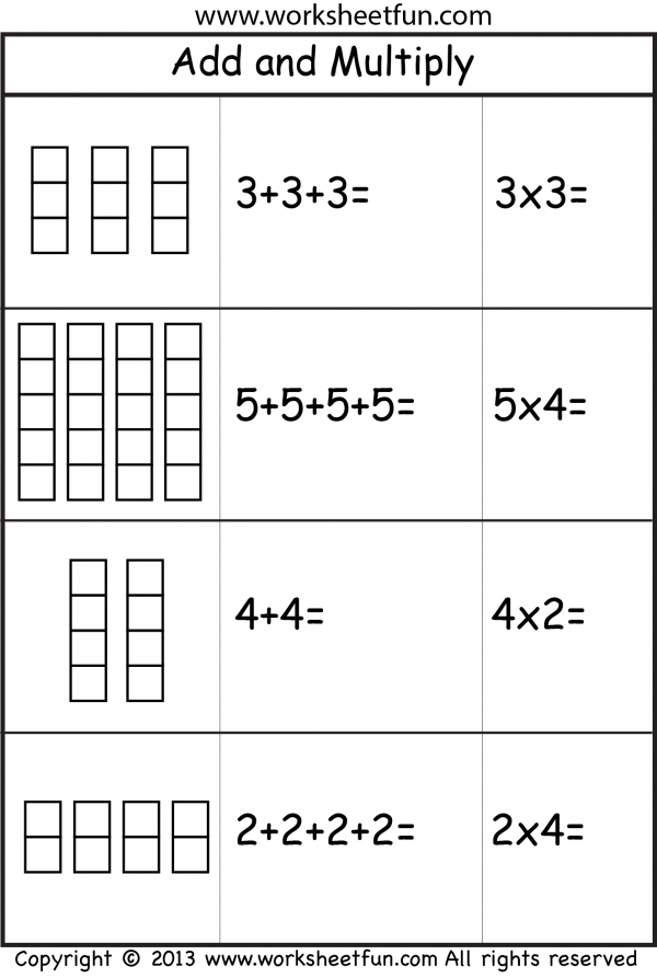 Multiplication As Repeated Addition Multiplication Repeated