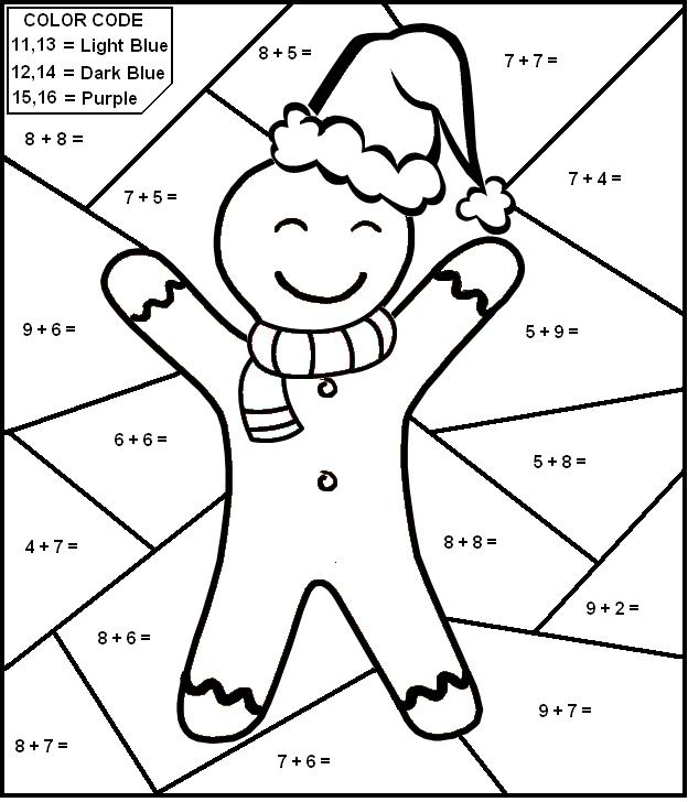 Multiplication Christmas Worksheets Color Number 680405