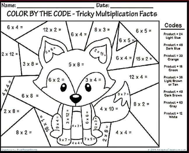 Multiplication Coloring Pages 4th Grade Astonishing Decoration