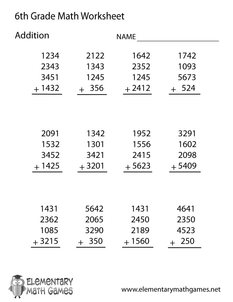 Multiplication Worksheets 6th Grade Free 785277