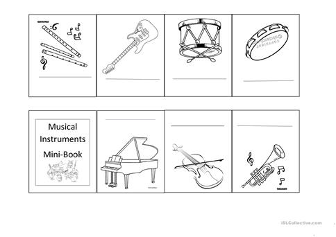 Musical Instruments Worksheet