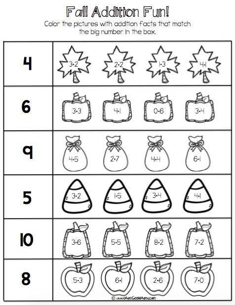 Number Bond Worksheets Kindergarten Free  358815