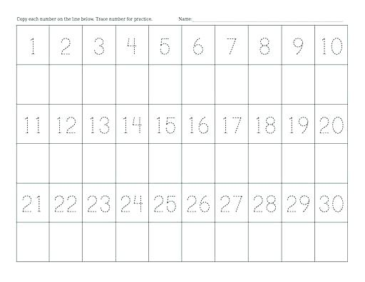 Number Matching Worksheets 1 20 Free Printable Winter Counting And