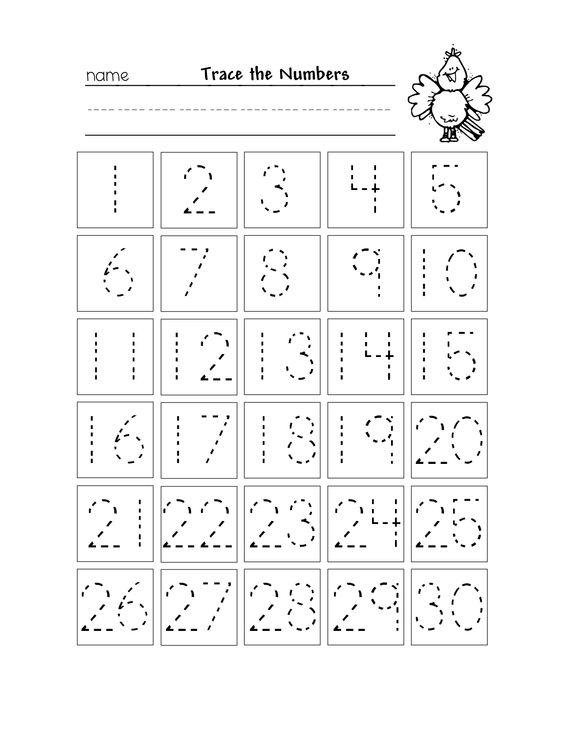 Number Tracing Worksheets 1 30 The Best Worksheets Image