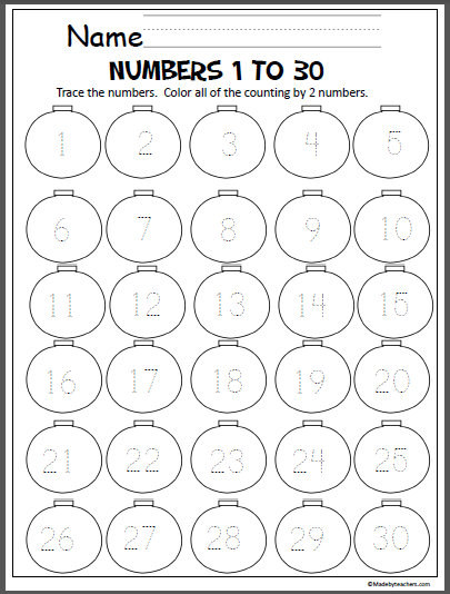 Number Writing Practice Worksheets 1