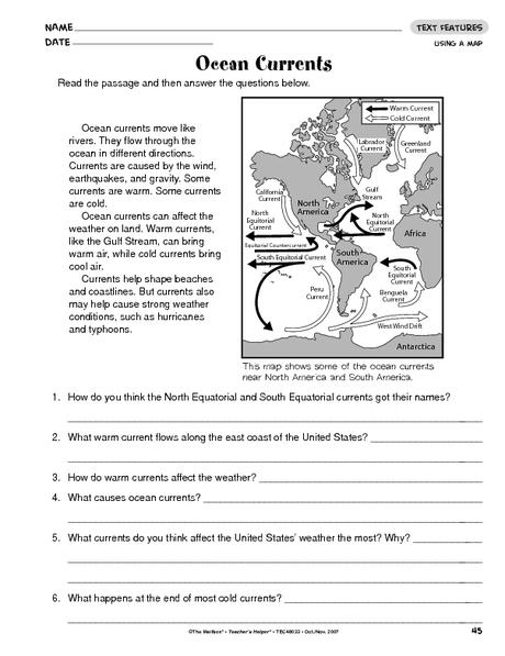 Ocean Current Worksheet The Best Worksheets Image Collection