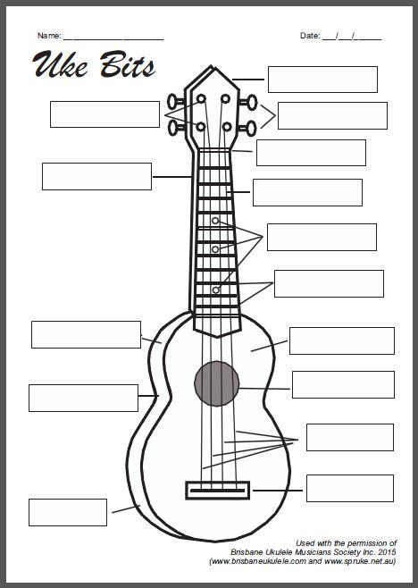 Parts Of The Guitar Worksheet Worksheets For All