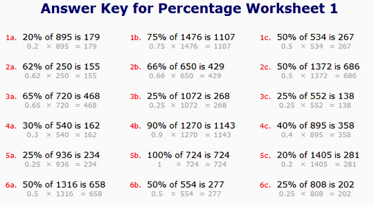 Percentage Worksheets With Answers The Best Worksheets Image