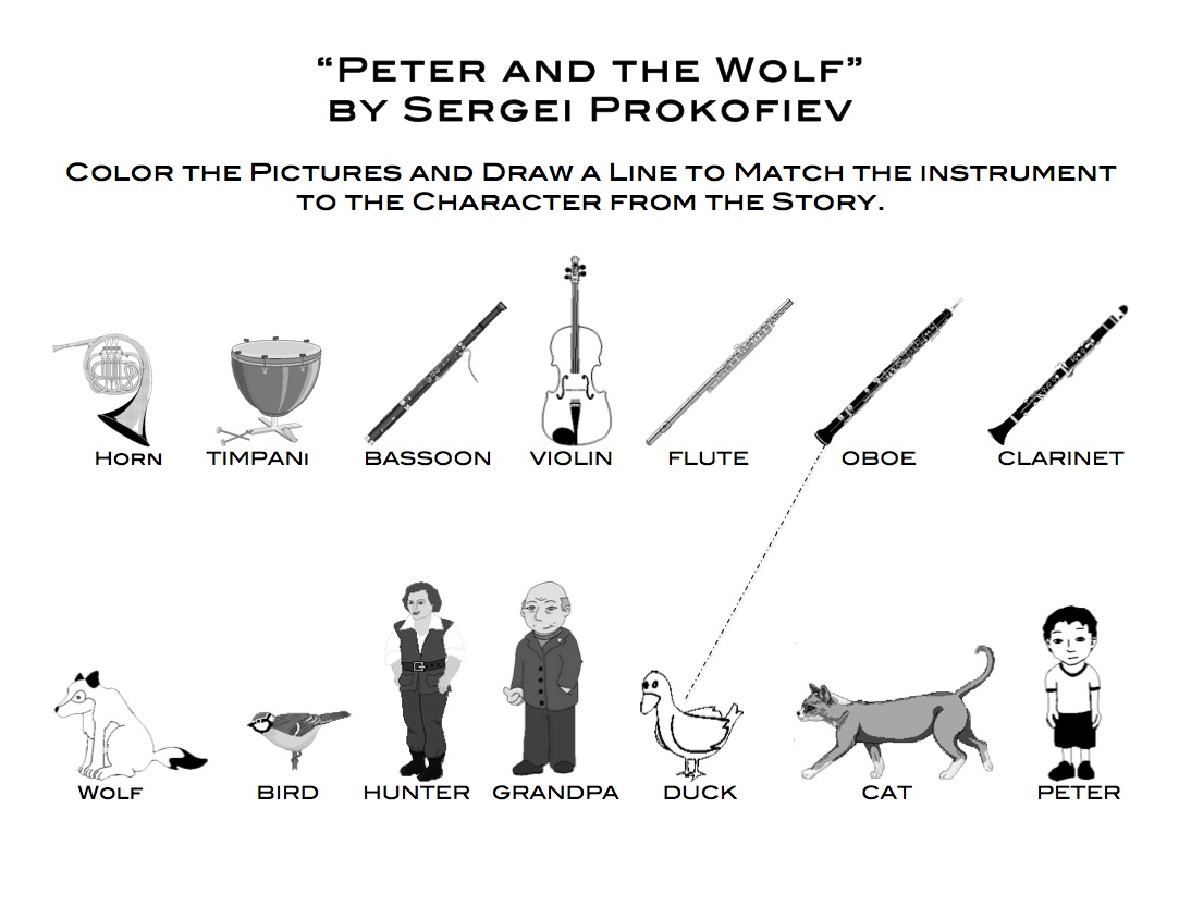 Peter And The Wolf Worksheets 178132