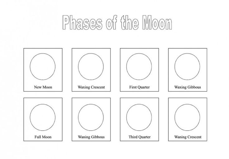 Phases Of The Moon Printable Worksheets The Best Worksheets Image