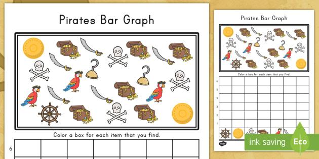 Pirate Bar Graph Worksheet   Activity Sheet