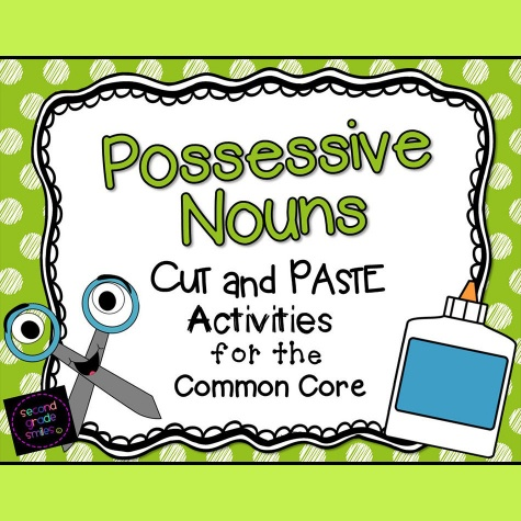 Possessive Nouns  Cut And Paste Activity Pages