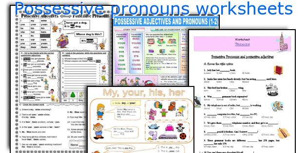 Possessive Pronouns Worksheets