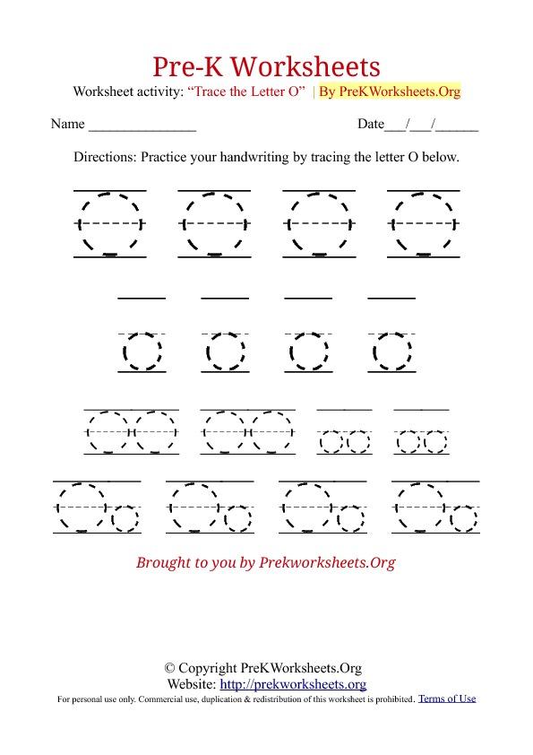 Pre K Worksheets Alphabet Tracing Pre K Worksheets Org Coloring