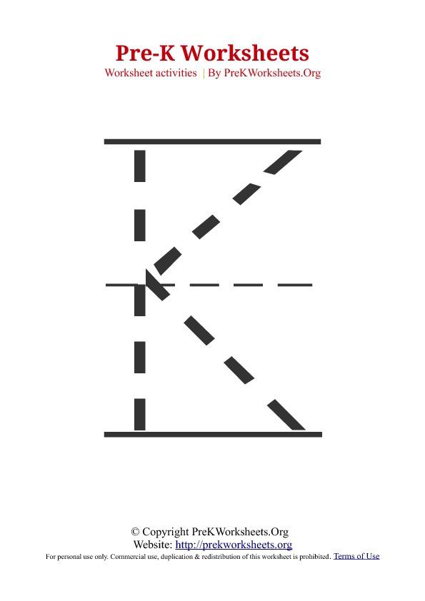 Pre Kindergarten Alphabet Tracing Worksheets 571326