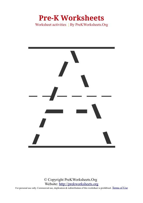Pre Kindergarten Alphabet Tracing Worksheets 571327