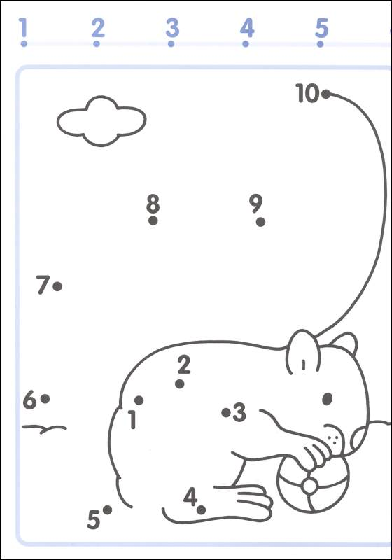 Preschool Connect The Dots Worksheets 1 10 1365542 - Free ...