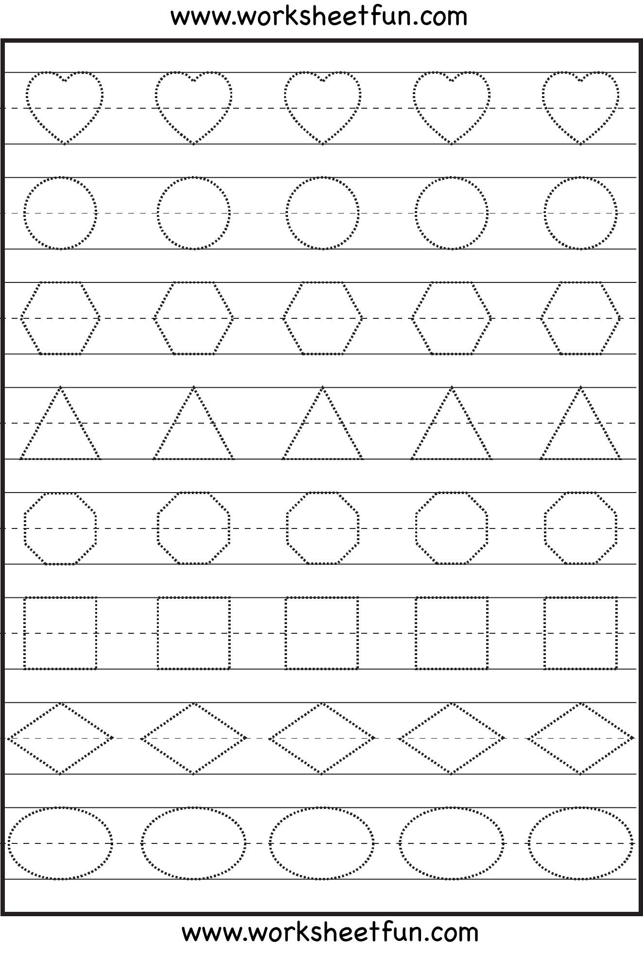 Preschool Free Printable Worksheets Shapes  620057