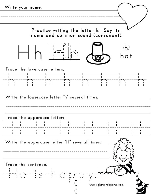 Preschool Letter H Worksheets 925346