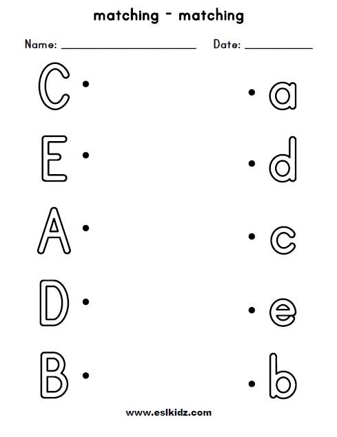 Preschool Phonic Worksheets