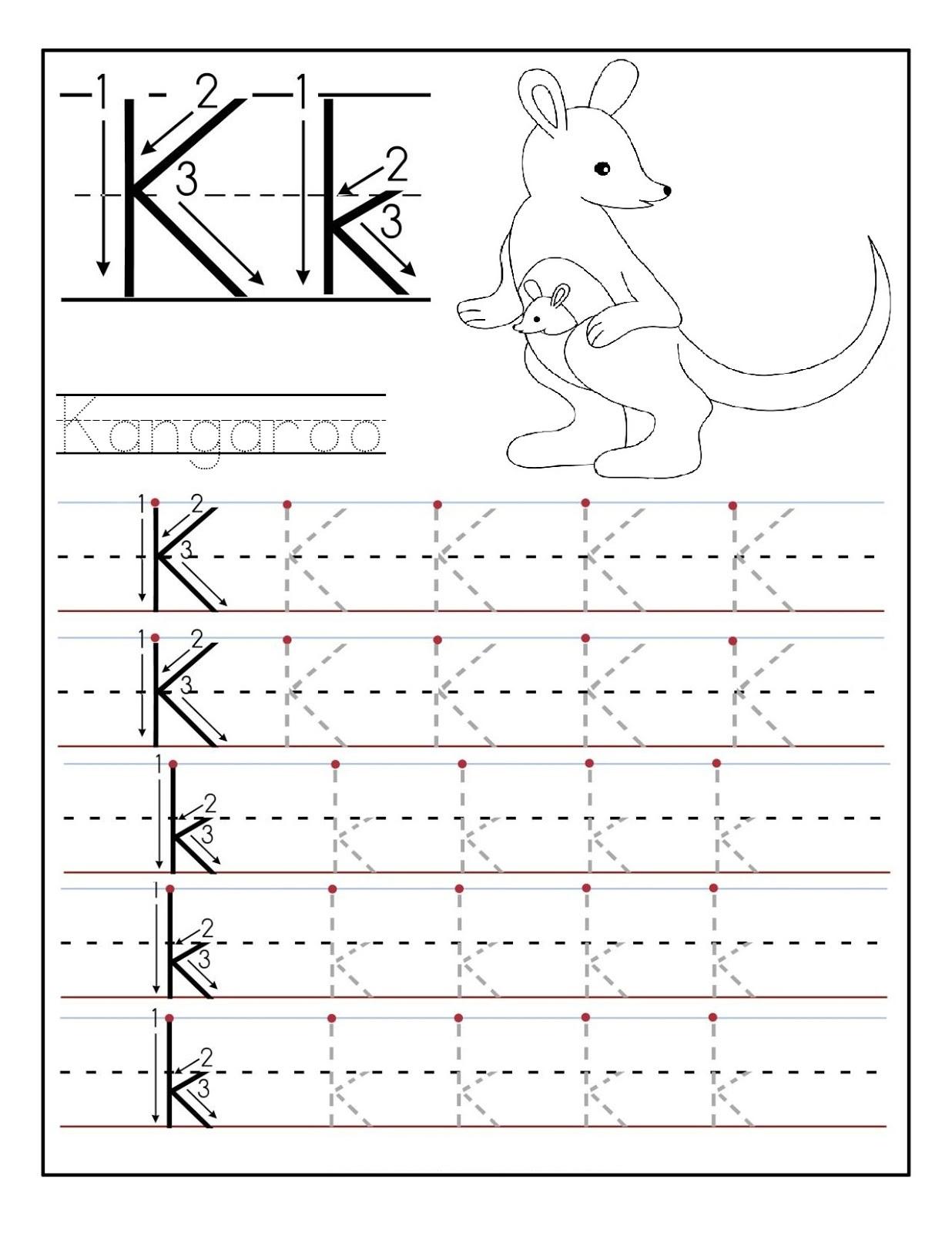 Preschool Printables Letter K 927564