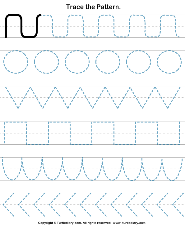 Preschool Tracing Patterns Worksheets 1064442