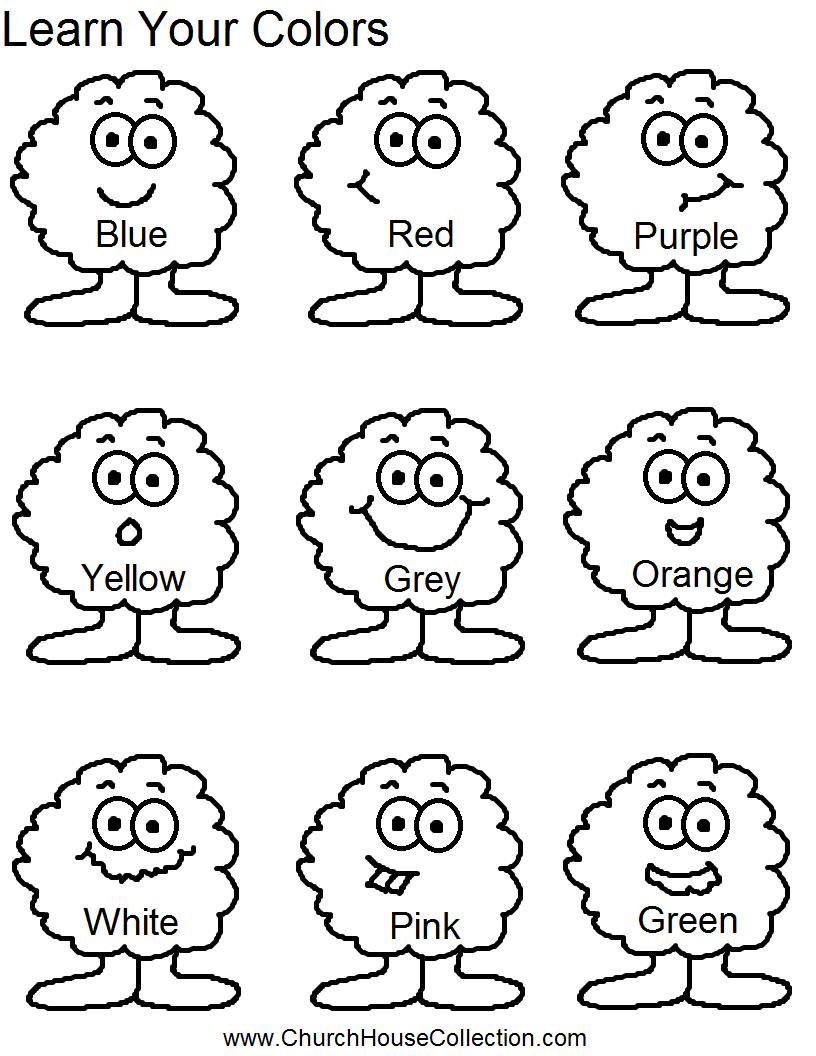 Preschool Worksheets Colours 1218731