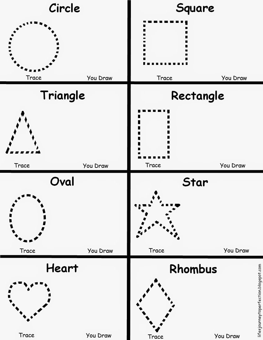 Preschool Worksheets For Shapes  1005850