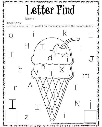 Preschool Worksheets For The Letter I 1229709