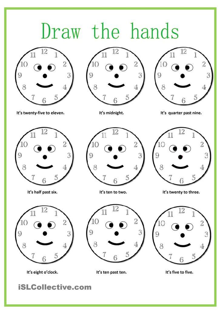 Preschool Worksheets For Time 1036693