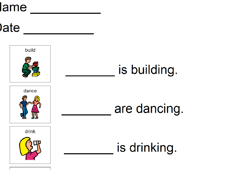 Preschool Worksheets He She It