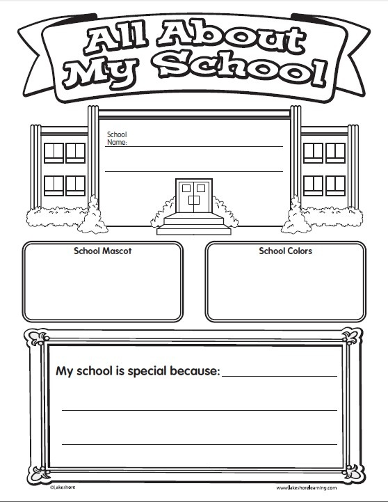 Preschool Worksheets My School 1274667