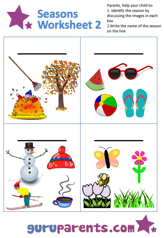 Preschool Worksheets On Seasons  304430