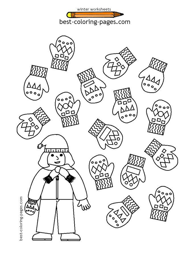 Preschool Worksheets Winter 1294067